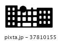 東京ランドマークシルエットイラスト (お台場) 37810155