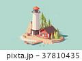 ベクトル 灯台 燈台のイラスト 37810435