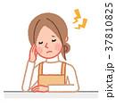 女性 主婦 頭痛のイラスト 37810825
