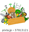 Vector Gardening Concept with Wooden Plank 37813121