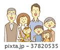 家族 夫婦 老若男女のイラスト 37820535