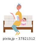 手紙をみる 母親 イラスト 37821312