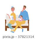手紙を受け取る 家族 イラスト 37821314