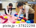 図工 女性 塗るの写真 37822298