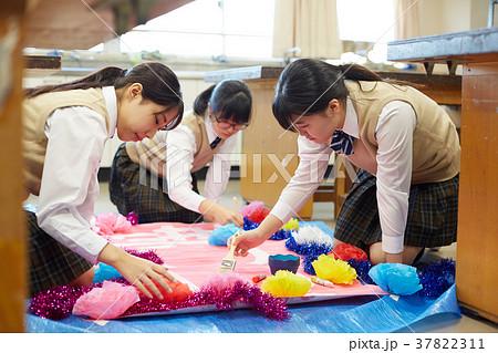中学生 文化祭 図工 高校生 37822311