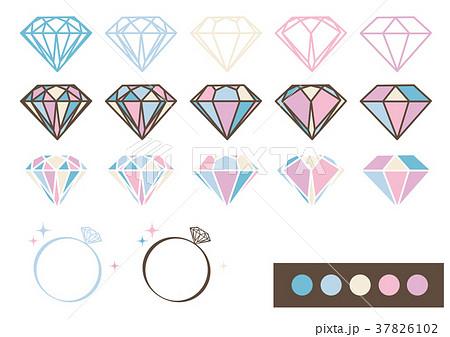 宝石 デザインパーツ素材(パステルカラー) 37826102