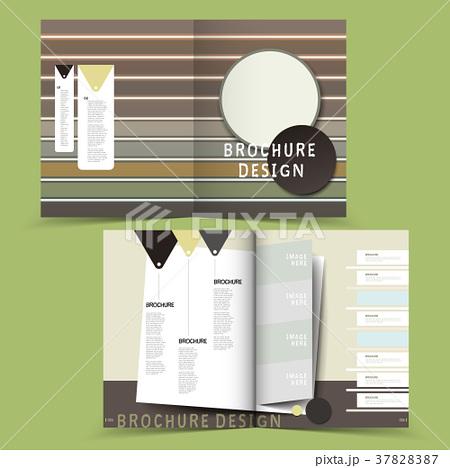 vector brochure layout design templateのイラスト素材 37828387 pixta