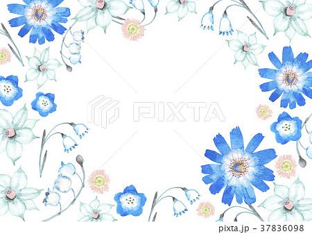 春 夏 花 背景 水彩 イラストのイラスト素材 37836098 Pixta