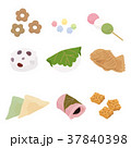 和菓子 スイーツ 食べ物のイラスト 37840398