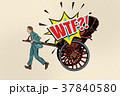 人力車 タクシー 空車のイラスト 37840580