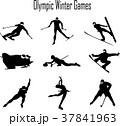 冬季オリンピック競技シルエット 37841963