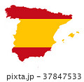 Spain flag in silhouette of the country 37847533