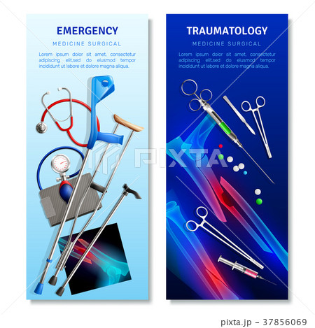 Surgical Traumatology Vertical Banners 37856069