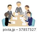ビジネスウーマン ビジネスマン ビジネスのイラスト 37857327