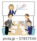 ビジネスウーマン ビジネスマン ビジネスのイラスト 37857540