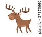動物 鹿 マンガのイラスト 37876660