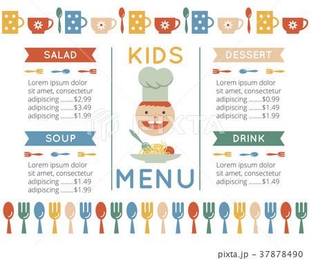 kids menu templateのイラスト素材 37878490 pixta