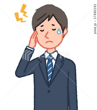 頭が痛い男性 37880282