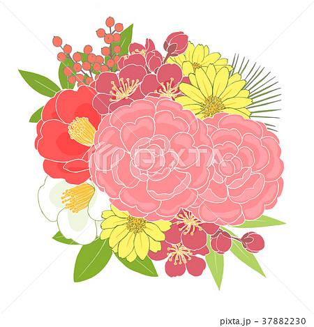 お正月の花のイラスト素材 37882230 Pixta
