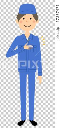 作業服の男性 おまかせ 37887471