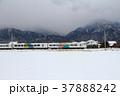 鉄道 電車 雪の写真 37888242