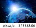 地球とネットワークイメージ背景 37888360