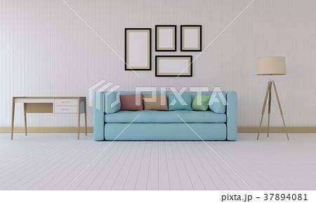 3D rendering of interior modern living room  37894081
