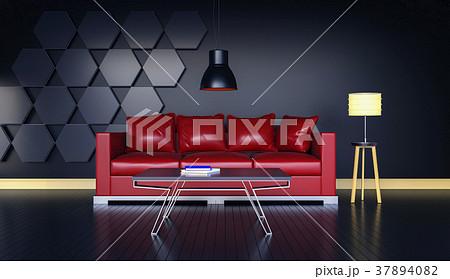 3D rendering of interior modern living room  37894082