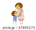 お母さん 母子 親子のイラスト 37895273