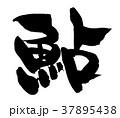 筆文字 鮎 あゆ 食べ物 イラスト  37895438