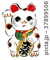 招き猫 金運 幸運のイラスト 37899506