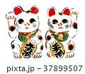 招き猫 縁起物 置物のイラスト 37899507
