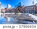 東京駅 雪 積雪の写真 37900434