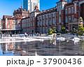 東京駅 雪 積雪の写真 37900436