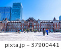 東京駅 雪 積雪の写真 37900441