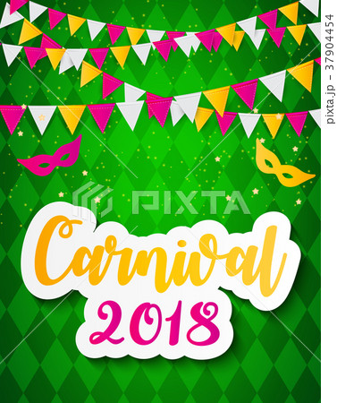 carnival brochure template for brazil carnival inのイラスト素材