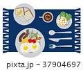 目玉焼き 卵料理 朝ごはんのイラスト 37904697