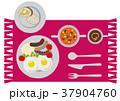 朝ごはん 朝食 トーストのイラスト 37904760