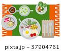 朝ごはん 朝食 トーストのイラスト 37904761