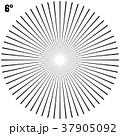 Abstract Circular Geometric Burst Rays On White 37905092