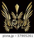 トライバル。翼と羽のエンブレム。タトゥーデザイン。 37905261