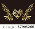 トライバル。翼と羽のエンブレム。タトゥーデザイン。 37905266