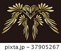 トライバル。翼と羽のエンブレム。タトゥーデザイン。 37905267
