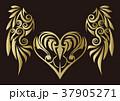 トライバル。翼と羽のエンブレム。タトゥーデザイン。 37905271