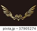 トライバル。翼と羽のエンブレム。タトゥーデザイン。 37905274
