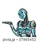 白背景 切り抜き ロボットのイラスト 37905452