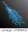Lightning effect isolated on transparent 37908415