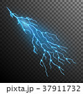 Lightning effect isolated on transparent 37911732