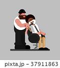 バーバー 床屋 理髪師のイラスト 37911863