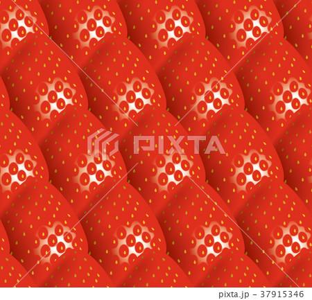 イチゴのイラストの背景/シームレス 37915346